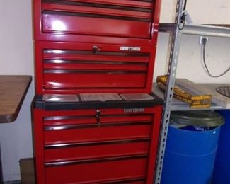 Three tier Craftsman tool chest like new with 3 keys on each section