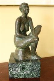 Signed Bronze Nude
