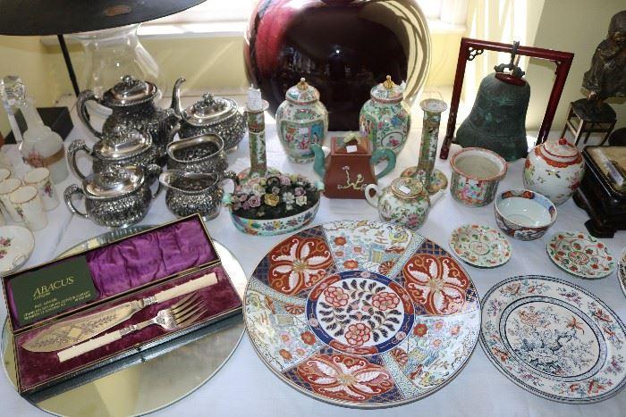 Chinese, Japanese, and English porcelain