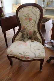 Upholstered parlor chair