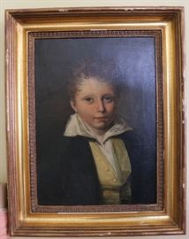 19th century English portrait of young lad