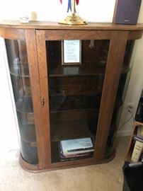 Victorian glass front cabinet