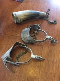 Stirrups and powder horn