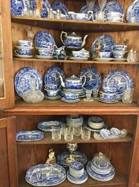 Copeland Spode Italian Blue and White dinner set