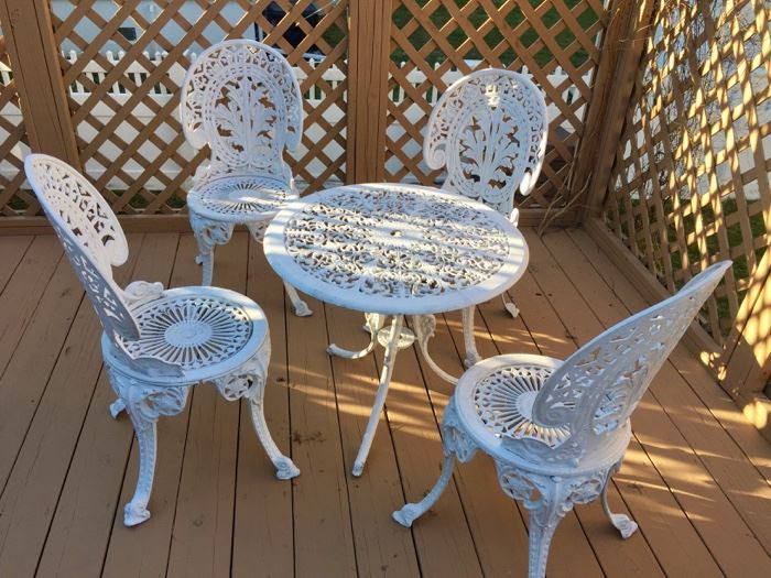 Patio set cast aluminum
