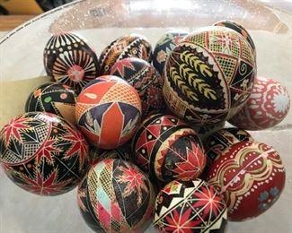Lots of Ukrainian eggs