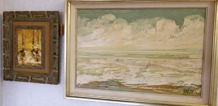 Pair of oil paintings by Jim Rabby