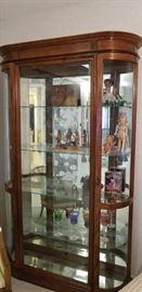 Beautiful glass display cabinet.