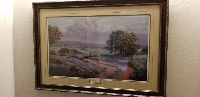 Bluebonnet framed print
