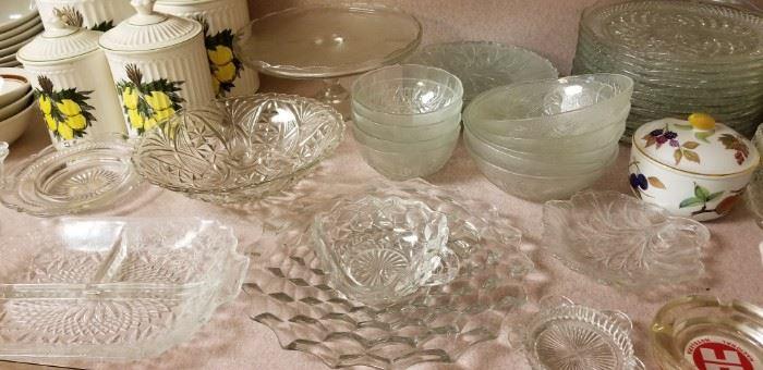 Fostoria American and other glassware