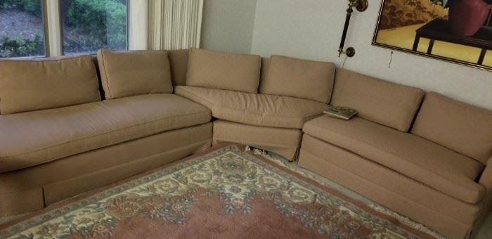 Mid-century Drexel sectional sofa