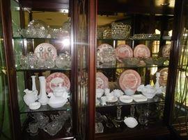 Plenty of crystal, Fostoria, Waterford, milk glass & more