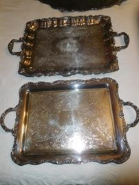 Huge silver trays