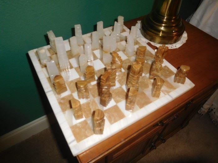 Onyx chess set