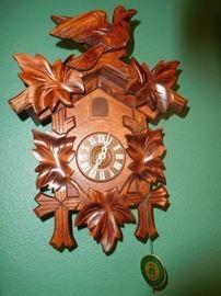 A cuckoo clock that has never been assembled