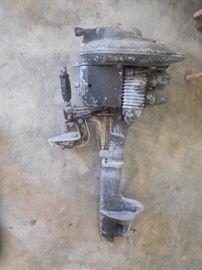 Antique boat motor