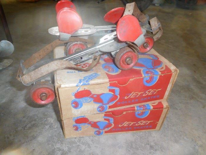 3 pairs of vintage skates