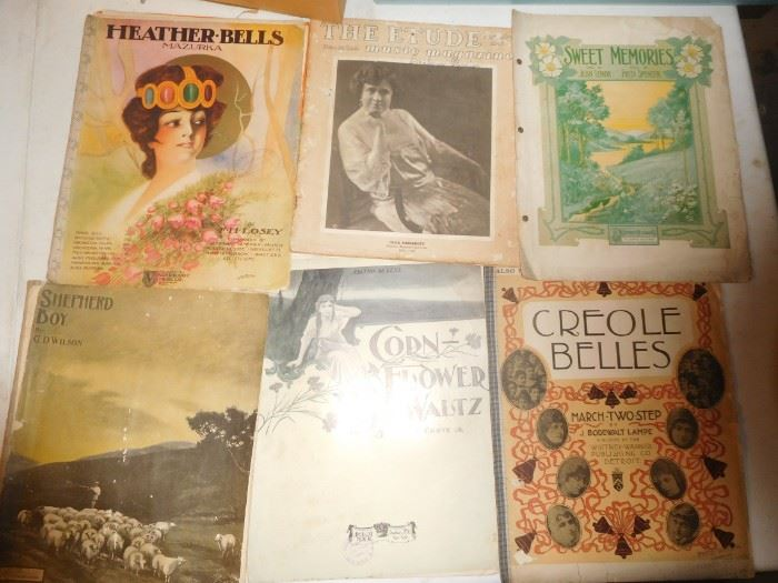 Wonderful sheet music fro m the 20s through the 40s
