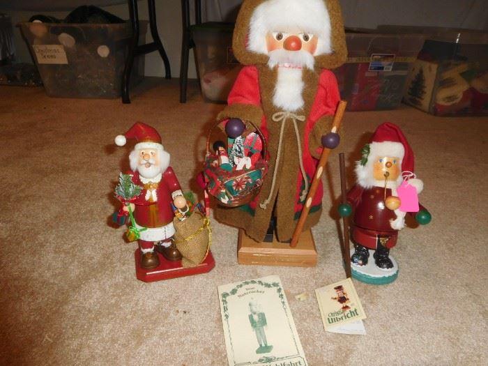 Hand-made German wooden Santas