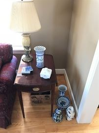 Pair of matching Cherry one drawer endtables