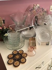 Selection of glassware dishes