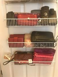 Stylish selection of wallets and handbags