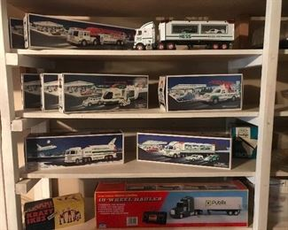 Collectible Hess trucks, Space Shuttles, helicopters, etc 1995-2000