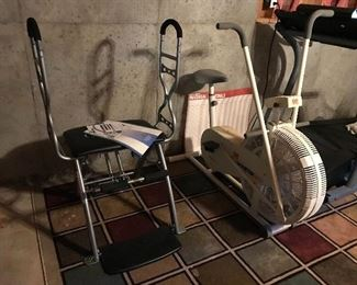 Pilates machine and DP Air Gometer exercise bike