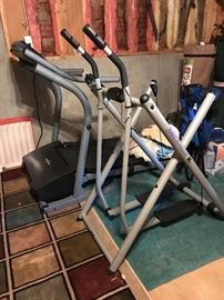 Treadmill and Glider Elliptical Exercise Machine