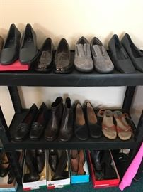 Shoes, shoes and more shoes! Sanders, flats, heels, sneakers, boots. All sizes 8.5-9 ladies