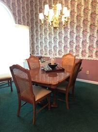 Dining table with total of 8 chairs