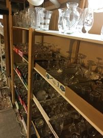 Stemware or tumblers; crystal or glass; clear or frosted; dainty or sturdy; pattern or decorative -glass wares.