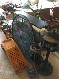 Heavy metal black shelving, whimsical bird feeder, vintage ash tray holder, car ramps, etc...
