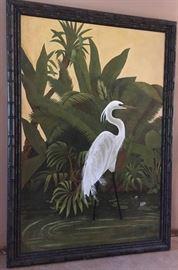 Oversize Oil Canvas, Egret