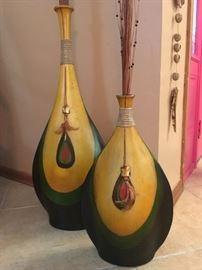 Wood Floor Vases