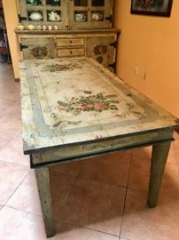 Hand Painted Country Table