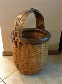 Antique Rice Gathering Basket