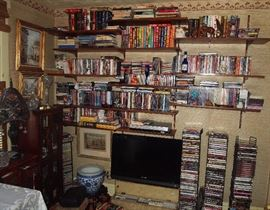 Lots of DVD's and Classical Music CD's
