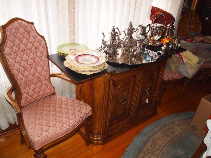 6-piece Reed & Barton silver-plated tea set