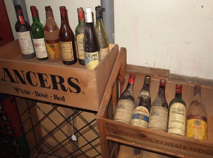 EMPTY vintage wine bottles, have about 30 more than shown here...