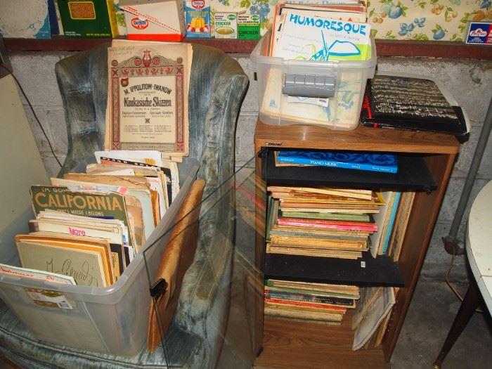 Lots of piano/sheet music