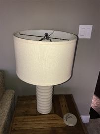STONE LAMP WITH CREAM SHADE-2 AVAILABLE