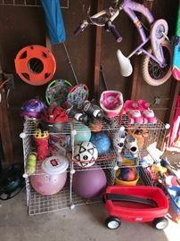 OUTDOOR KIDS TOYS / BALLS/ HELMETS