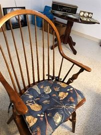 Chair that goes with game table.  LARGE berber room size rug.