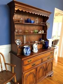 Pennsylvania House hutch and collectibles.
