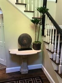 Stone Console table attributed to Micheal Taylor Designs.
