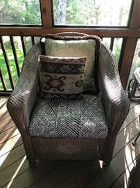 Lloyd Loom by Lloyd Flanders wicker rocker.