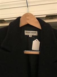 Giorgio Armani long coat.