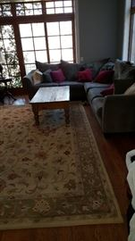 Sectional Sofa, Carpet & Table
