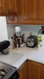 Kitchenaid Mixer, antique toasters